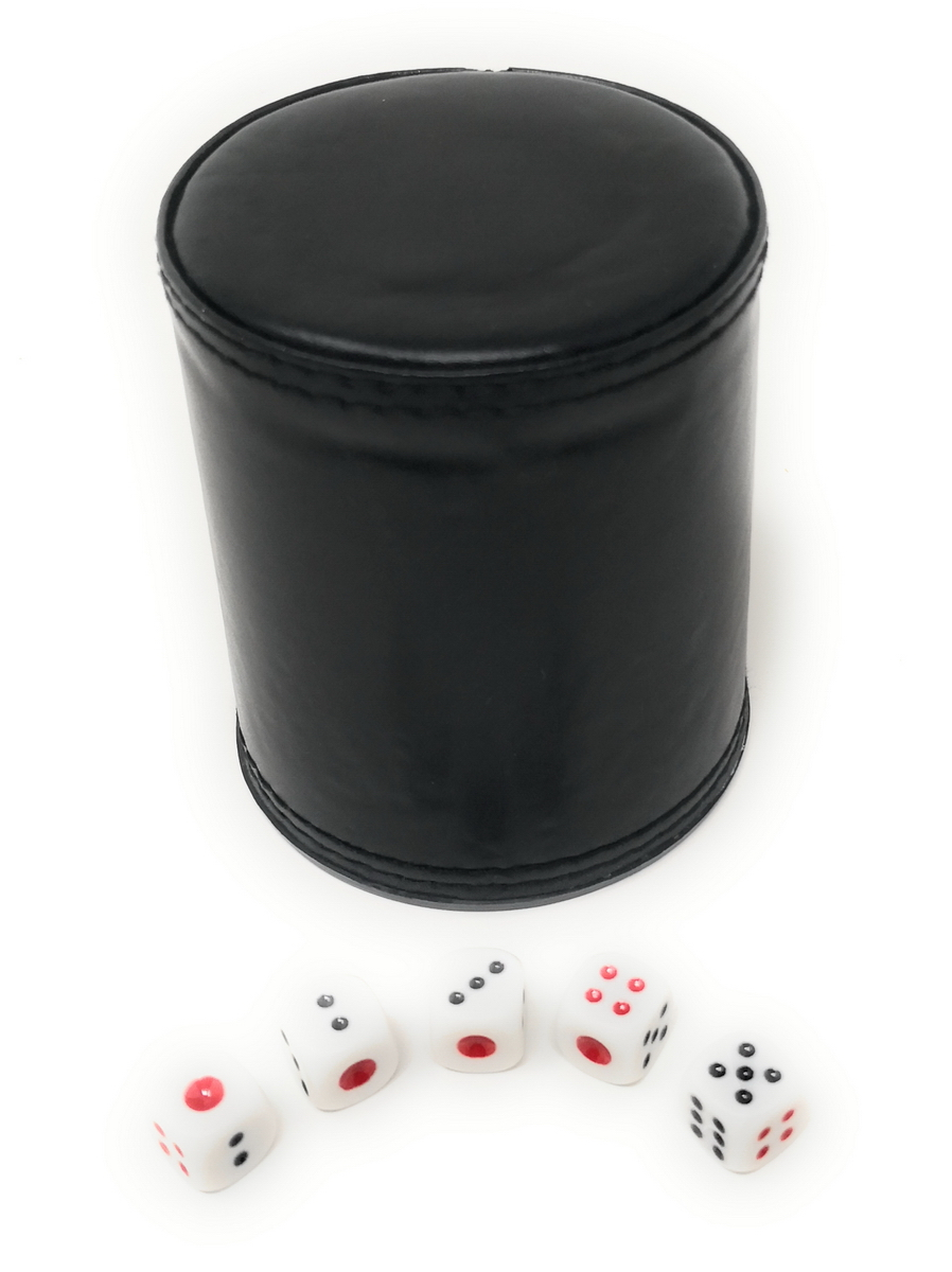 Dice Shaking Cup Box Shaker for Yatzee Casino Guessing Games Accessories Set