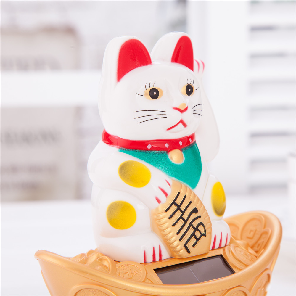 Exclusive Collectible Solar Bobblehead Pink Cat Toy