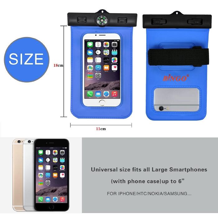 Waterproof Case] Bingo Portable Ultra Slim Waterproof Case