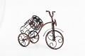 Bicycle Wine Bottle Holder Desktop Bike Wine Rack Freestanding Countertop Bottle Holder for Wine Storage, Metal, Metallic Red Colored