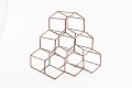 Geometric Hexagon 6 Bottle Desktop Wine Rack Freestanding Countertop Bottle Holder for Wine Storage, Metal, Copper