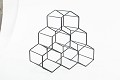 Geometric Hexagon 6 Bottle Desktop Wine Rack Freestanding Countertop Bottle Holder for Wine Storage, Metal, Black