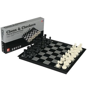 2 in 1 Magnetic Chess and Checkers Game Set
