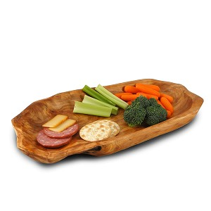 Enrico 2200 Root Wood Large Platter 14 x 8 x 2 inches