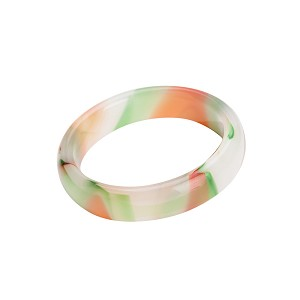 Stunning Beautiful Polished Rainbow Nephrite Jade Bangle Fashion Bracelet