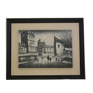 Wooden Framed Moscow Oil Painting Art F3181
