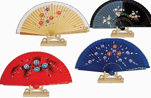 Assortment of one dozen (12) Feng Shui Hand Fan-SPANISH STYLE FAN