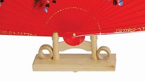 "Bamboo Hand Fan Stand For 13"" Or 9"" Fans (FAN NOT INCLUDED)"
