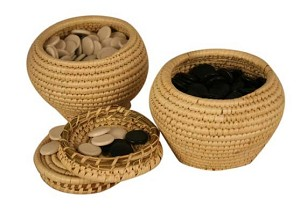 Go Game YUNZI Stones And Grass Knitted Holder Bowls Set