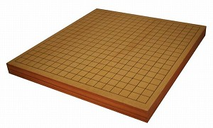 "1 3/4"" Torreya Wood Reversible Go & Chinese Chess Game Board"