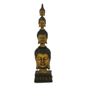 "Antique Reproduction 11"" High Buddha"