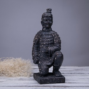 Antique Reproduction Qin Dynasty Terra cotta Warrior Collectible Statuette Large 12""