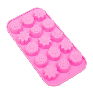 THY COLLECTIBLES Soft Silicone Ice Cube Tray Ice Maker Mold Candy Mold Chocolate Mold (Pink)