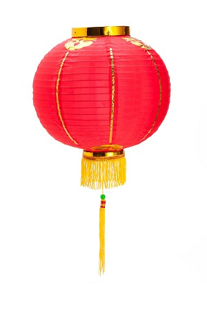 Good Luck Oriental Festival Party Celebration Lantern 12""