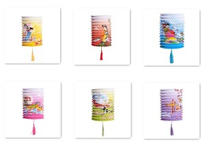 Set Of 6 Goddess Chang E Fly To The Moon Chinese Festival Party Celebration Home Decor Lanterns
