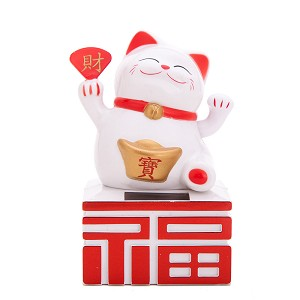 Solar Powered Bobblehead Toy Figure, Lucky Cat 065