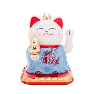 Solar Powered Bobblehead Toy Figure, Lucky Cat 066
