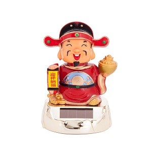 Solar Powered Bobblehead Toy Figure, Fortune God 075