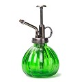 Flower Water Spray Bottle Can Pot Plant Mister | Vintage Pumpkin Style Decorative Glass Plant Atomizer Watering Can Pot with Pump for Terrariums Flowers Potted Plants (Green)