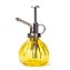 Flower Water Spray Bottle Can Pot Plant Mister | Vintage Pumpkin Style Decorative Glass Plant Atomizer Watering Can Pot with Pump for Terrariums Flowers Potted Plants (Yellow)