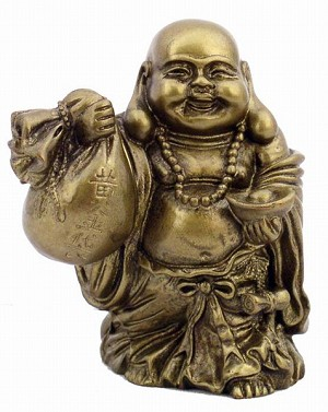 Hong Tze Collection-Golden Buddha Grabbing Money Bag