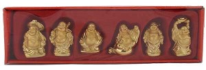 Hong Tze Collection-Set Of Six Golden Buddhaes (Small)