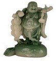 Hong Tze Collection-Jade Color Buddha Grabbing Chinese Coins (Medium)