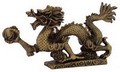 Fabulous Hong Tze Collection-Brass Color Hang Dragon (Medium)