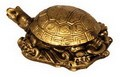 Fabulous Hong Tze Collection--Small Longevity turtle Brass Color