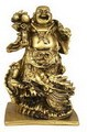 Hong Tze Collection-Brass Color Buddha Standing On Dragon