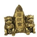 Hong Tze Collection-Brass Color Front Gate Fu Dogs