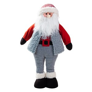 Handmade Standing Santa Claus Plush Doll Figurine Decoration, Holiday Present, Home Ornaments, Christmas Decoration (22 Inch)