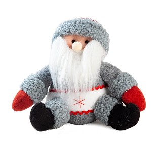 Handmade Sitting Santa Claus Plush Doll Figurine Decoration, Holiday Present, Home Ornaments, Christmas Decoration (9 Inch)