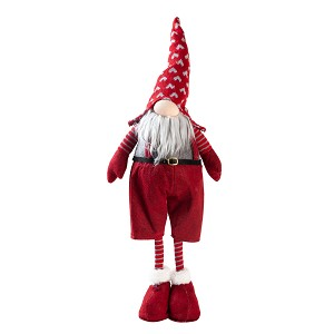 Handmade Swedish Standing Gnome Santa Plush Doll, Lucky Gnome, Scandinavian Tomte Santa, Nordic Nisse Elf Dwarf Decoration, Holiday Present, Home Ornaments, Christmas Decoration (23 inch)