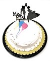 Mr and Mrs Cake Topper Acrylic Love Wedding Cake Topper Bride and Groom Cake Topper TOP004 (Black)