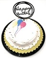 Happy Birthday Cake Topper Acrylic First Birthday Party Decoration, Favorite Topper for Cake Decorations TOP006 (black)