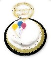 Happy Birthday Cake Topper Acrylic First Birthday Party Decoration, Favorite Topper for Cake Decorations TOP006 (gold)