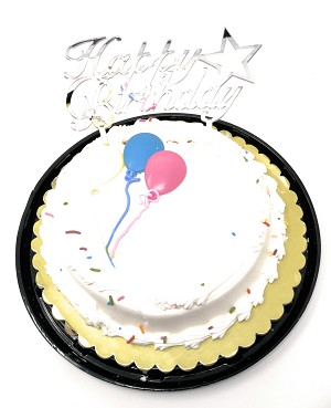 Happy Birthday Cake Topper Acrylic First Birthday Party Decoration, Favorite Topper for Cake Decorations (Silver)