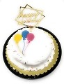 Happy Birthday Cake Topper Acrylic First Birthday Party Decoration, Favorite Topper for Cake Decorations (Gold)