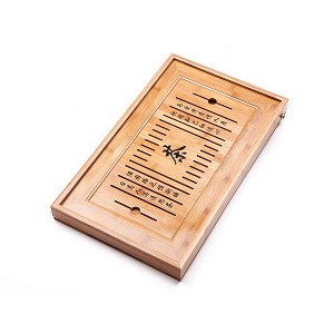 "Bamboo Kung Fu GongFu Tea Table Serving Tray L19.67"" x W11.81"" x H1.77"" (50CM X 30CM X 4.5CM)"
