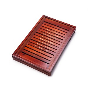 "Solid Wood Reservoir & Drainage Type Kung Fu GongFu Tea Table Serving Tray L17.32"" x W11.02"" x H2.36"" (44CM X 28CM X 6CM)"