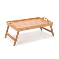 Multi Function Bamboo Foldable Breakfast Table, Laptop Desk Lapdesk, Bed Table, Serving Tray