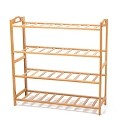 4 Tier Multifunctional Bamboo Shoe Rack Shoe Boot Tower Shelf Storage Organizer Stand Cabinet Bench