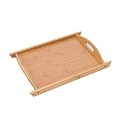 Bamboo Breakfast Tray Food Buller Serving Tray With Handles For Home Party Camping (Lg 17.3