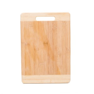 "Organic Bamboo Cutting Board Kitchen Chopping Board for Meat Cheese Fruit and Vegetables | Anti Microbial Heavy Duty Serving Tray w/ Handle - 13 1/2"" x 9 1/4"""