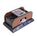 THY COLLECTIBLES 1-2 Deck Deluxe Automatic Wooden Card Shuffler For Poker / Blackjack / Casino Card Games