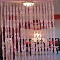 String Curtain Room Divider Partition PINK
