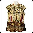 Ethnic Silk Blouse With Golden Thread (Matching Pants Optional)