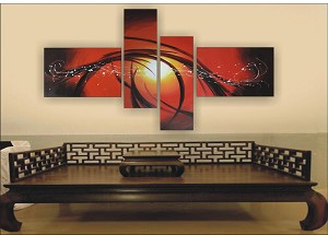 Modern Abstract Art Oil Painting STRETCHED READY TO HANG OPZ-4-17