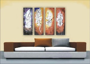 Modern Abstract Art Oil Painting STRETCHED READY TO HANG OPZ-4-32